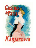 Kanjarowa: Casino de Paris Wall Decal by Jules Chéret