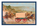Mitchell Wagon Train Wall Decal by Gean Smith