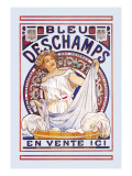 Bleu Deschamps En Vente Ici Wall Decal by Alphonse Mucha