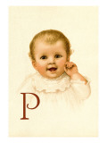 Baby Face P Wall Decal by Ida Waugh