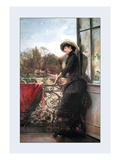 On the Terrace Wall Decal by Julius Stewart