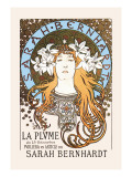 Sarah Bernhardt Wall Decal by Alphonse Mucha