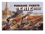 Purchase Tickets Via Erie Railway Wall Decal