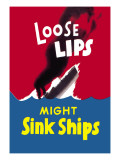 Loose Lips Might Sink Ships Wall Decal