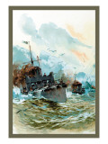 U.S. Navy: Rough Seas Wall Decal by Willy Stower
