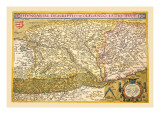 Map of Eastern Europe Wall Decal by Abraham Ortelius
