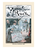 Puck Magazine: The Rival Sandwich-Men Wall Decal by Eugene Zimmerman