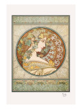 Laurel Wall Decal by Alphonse Mucha