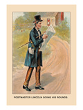 Postmaster Lincoln Going His Rounds Wall Decal by Harriet Putnam