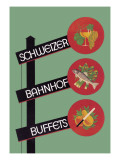 Schweizer Bahnhof Buffets Wall Decal by Charles Kuhn