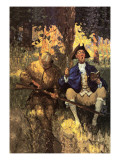 David Gamut Wall Decal by Newell Convers Wyeth