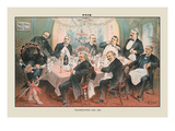 Puck Magazine: Thanksgiving Day, 1885 Wall Decal by Joseph Keppler