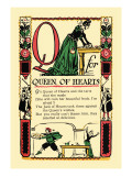 Q for Queen of Hearts Wall Decal by Tony Sarge