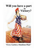 Will You Have a Part in Victory Wall Decal by James Montgomery Flagg
