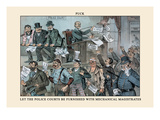 Puck Magazine: Let the Police Courts Be Furnished Wall Decal by Frederick Burr Opper
