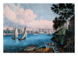 Blackwell Island Wall Decal by  Currier & Ives