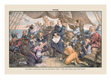Puck Magazine: Columbus Cleveland and His Mutinous Crew Wall Decal by Terry Gilliam