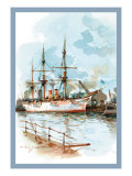 U.S. Navy: Docked Wall Decal by Willy Stower
