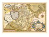 Map of Italy near Florence Wall Decal by Abraham Ortelius