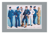 U.S. Navy: Uniforms, 1899 Wall Decal by Willy Stower