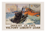 They Kept the Sea Lanes Open, Invest in the Liberty Loan Wall Decal by L.a. Shafer