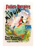 Folies-Bergere: le Miroir Pantomime Wall Decal by Jules Chéret