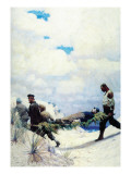 The Rescue of Captain Harding Wall Decal by Newell Convers Wyeth