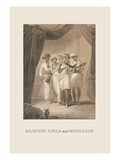 Dancing Girls and Musicians Wall Decal by Baron De Montalemert