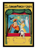 Prof. Hicks London Punch and Judy Wall Decal