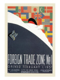 Foreign Trade Zone No. 1: New York City Department of Docks Wall Decal by Martin Weitzman