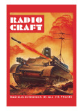 Radio-Craft: Tank Wall Decal by Alex Schomburg