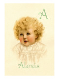 A for Alexis Wall Decal by Ida Waugh