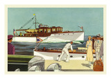 48 Foot and 45 Foot Twin Screw Cruisers Wall Decal by Douglas Donald