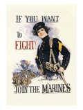 If You Want to Fight! Join the Marines Wall Decal by Howard Chandler Christy