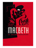 Macbeth: Wpa Federal Theater Negro Unit Wandtattoo von Anthony Velonis