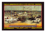 Sells Brothers' Enormous United Shows: Three Ring Circus Wall Decal