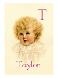 T for Taylor Wall Decal by Ida Waugh