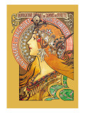 Savonnerie de Bagnolet Wall Decal by Alphonse Mucha