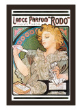 Rodo Perfume,Fragrance Wall Decal by Alphonse Mucha