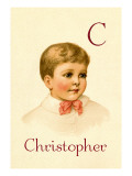C for Christopher Wall Decal by Ida Waugh