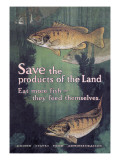 United States Food Administration Advisory: Save the Products of the Land Wall Decal by Charles Livingston Bull