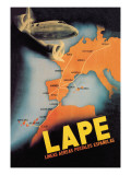 LAPE, Spanish Postal Airlines European Routes Wall Decal
