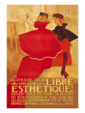La Libre Esthetique Wall Decal by Theodore Van Rysslebergh
