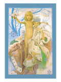 Snow Queen and Child Wall Decal by Alphonse Mucha