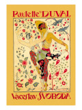 Paulette Duval and Vaceslv Svoboda Dance Wall Decal by Georges Barbier