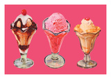 Three Sundaes Wall Decal