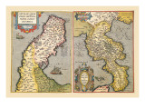 Maps of Peninsulas Wall Decal by Abraham Ortelius