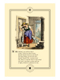 Little Lily's Alphabet: Madam, Any Milk Today Wall Decal by Oscar Pletsch