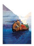 Race Across the Lake Wall Decal by Newell Convers Wyeth