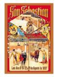 San Sebastian Grandes Coridas Wall Decal by Dan Sagre Groesbeck